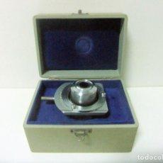 Antigüedades: ACCESORIO MICROSCOPIO REICHERT AUSTRIA Nº 57 180 CON CAJA - ÓPTICA LENTE LENTES ÓPTICO BOX BOXED. Lote 186338361