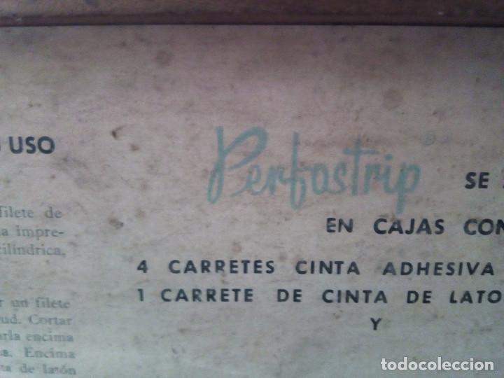 Antigüedades: Caja de Madera - Filetes de Impresión para Imprenta - Marca Perfostrip - Foto 2 - 186349032