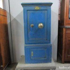 Antigüedades: CAJA FUERTE - ARCA DE CAUDALES - FABRICA DE CAJAS ROCA, DE F. MULLER - FUNCIONA, CON LLAVE Y COFRE. Lote 186389351