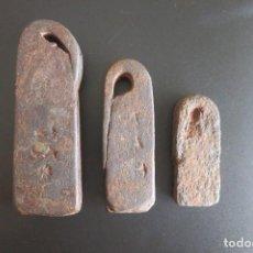 Antigüedades: PESAS CASTELLANAS ANTIGUAS. Lote 186407820