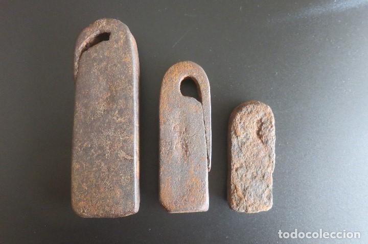 Antigüedades: pesas castellanas antiguas - Foto 2 - 186407820