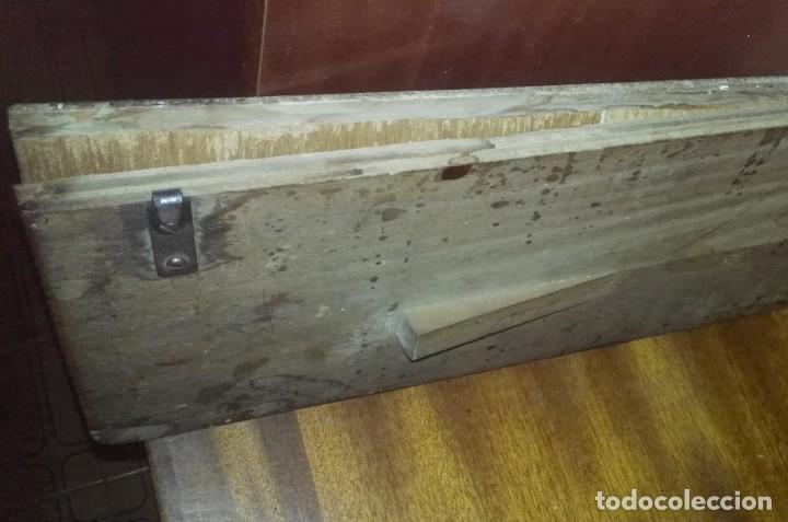 Antigüedades: Maquina de Coser Sigma Años 50 con Pie de Hierro y Caja Metal - Foto 7 - 186453092