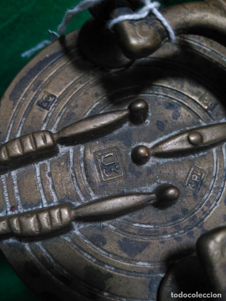 Antigüedades: ANTIGUOS PONDERALES VASOS ANIDADOS NUREMBERG SIGLO XVII PONDERAL PESOS PESAS 980,00 € - Foto 6 - 67090665