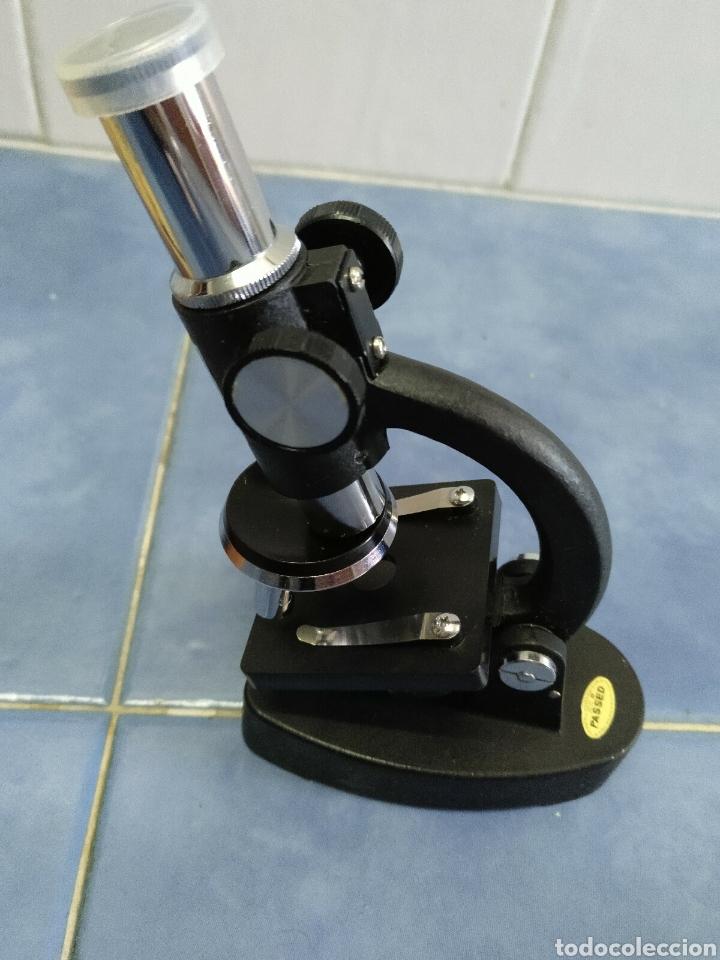 Antigüedades: Microscopio Favila años 80 con caja de madera - Foto 9 - 187025867