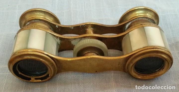 Antigüedades: Impertinentes. Binoculares de teatro en bronce y nacarados - Foto 4 - 187088567