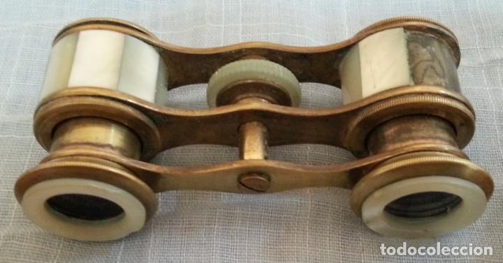 Antigüedades: Impertinentes. Binoculares de teatro en bronce y nacarados - Foto 5 - 187088567