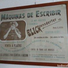 Antigüedades: CARTEL POSTER MAQUINA DE ESCRIBIR. BLICKENDESFER. Lote 187106353