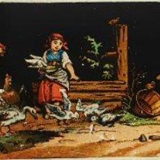 Antigüedades: COLECCIÓN DE 27 PLACAS PARA LINTERNA MÁGICA. PINTADAS A MANO. SIGLO XIX. . Lote 187152462