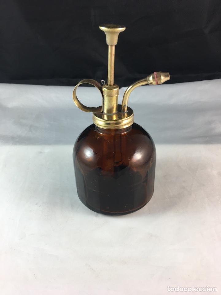 Antigüedades: Antigua aceitera de vidrio y bronce restaurada -funciona -(19353) - Foto 3 - 187184413