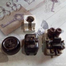 Antigüedades: LOTE COMPONENTES ELECTRICOS ANTIGUOS. Lote 187185485