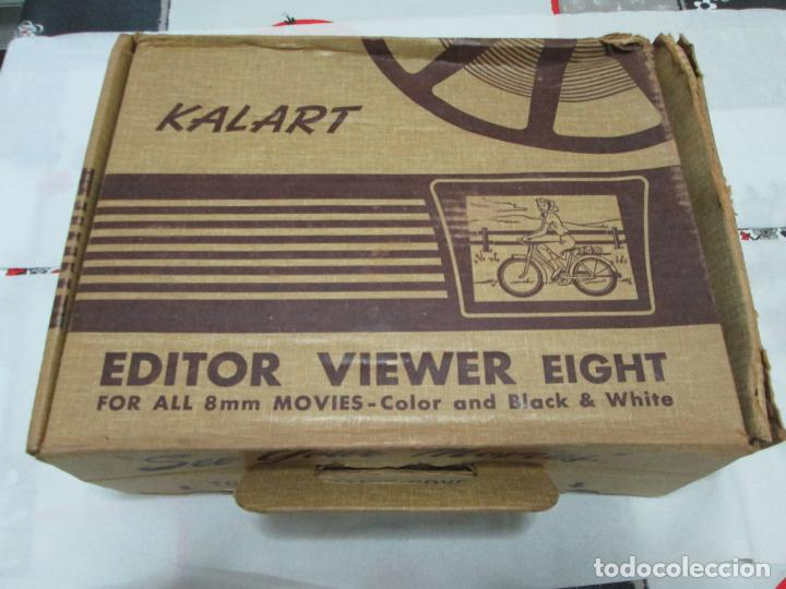 Antigüedades: KALART EDITOR VIEWER EIGHT VISOR 8MM AÑOS 50 EN SU CAJA - Foto 9 - 187218700