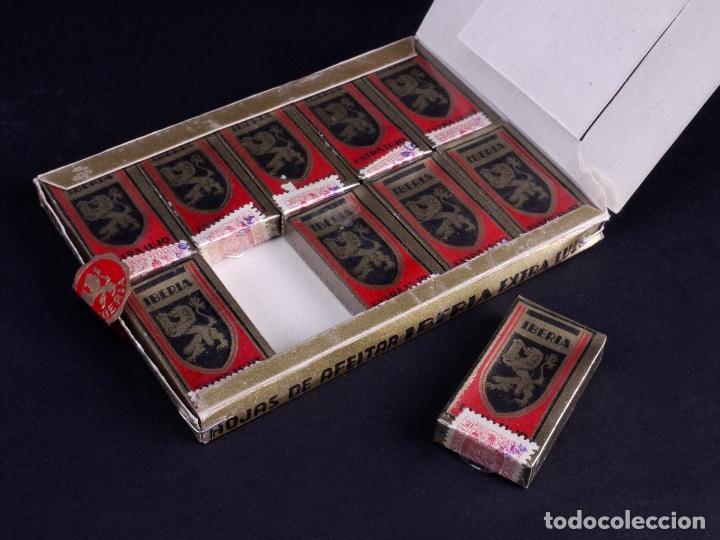 Antigüedades: IBERIA EXTRA LUJO. PACK CON 10 CAJETILLAS DE 10 HOJAS DE AFEITAR CADA UNA - Foto 5 - 187292393