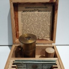 Antigüedades: PRECIOSO Y RARO MICROSCOPIO DE BOLSILLO MIDGARD - ALEMANIA- C 1900 - 1920 5 CM 29 GR MAX WOLFF ?. Lote 187398547