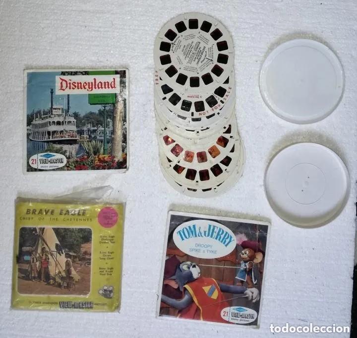 Antigüedades: Visor diapositivas Sawyer's (Sawyers) 3-Dimension Video-Master; Con caja original y muchas peliculas - Foto 4 - 187399161