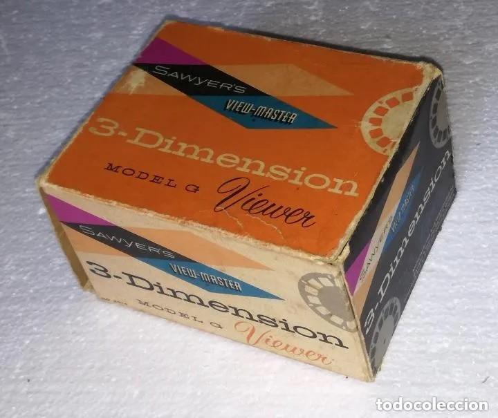 Antigüedades: Visor diapositivas Sawyer's (Sawyers) 3-Dimension Video-Master; Con caja original y muchas peliculas - Foto 6 - 187399161