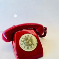 Teléfonos: TELEFONO VINTAGE HERALDO DE DISCO DE CITESA TELEFONICA COLOR ROJO. Lote 187415462