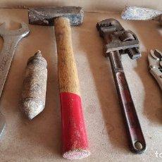 Antigüedades: LOTE DE ANTIGUAS HERRAMIENTAS VARIAS / EN TOTAL 7 PIEZAS / LEER DESCRIPCIÓN.. Lote 187430886