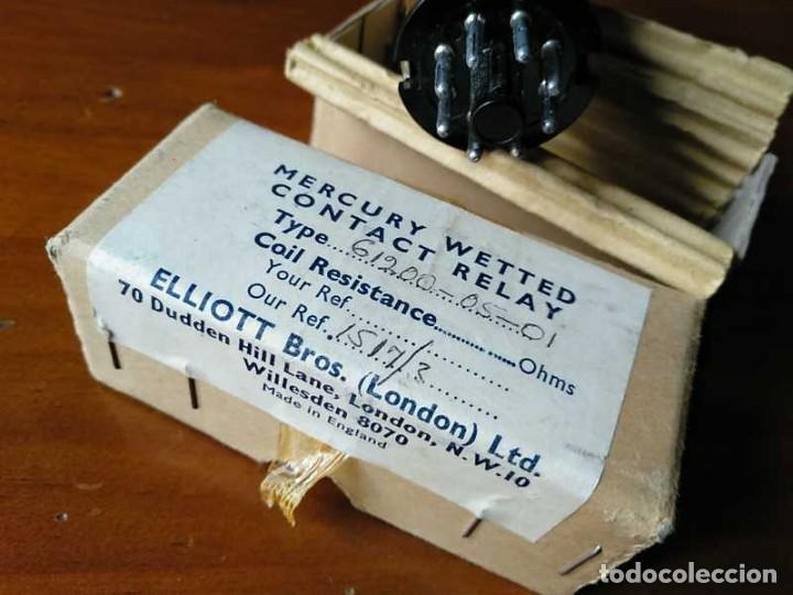 Antigüedades: RELE DE MERCURIO ELLIOT BROTHERS (LONDON) MADE IN ENGLAND EN SU CAJA MERCURY WETTED CONTACT RELAY - Foto 21 - 187444798
