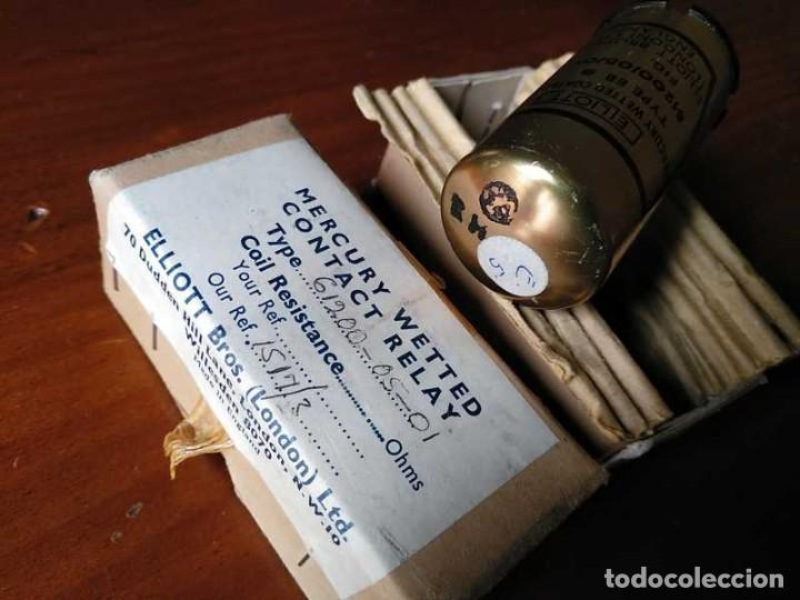 Antigüedades: RELE DE MERCURIO ELLIOT BROTHERS (LONDON) MADE IN ENGLAND EN SU CAJA MERCURY WETTED CONTACT RELAY - Foto 29 - 187444798