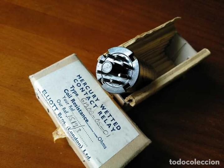 Antigüedades: RELE DE MERCURIO ELLIOT BROTHERS (LONDON) MADE IN ENGLAND EN SU CAJA MERCURY WETTED CONTACT RELAY - Foto 57 - 187444798