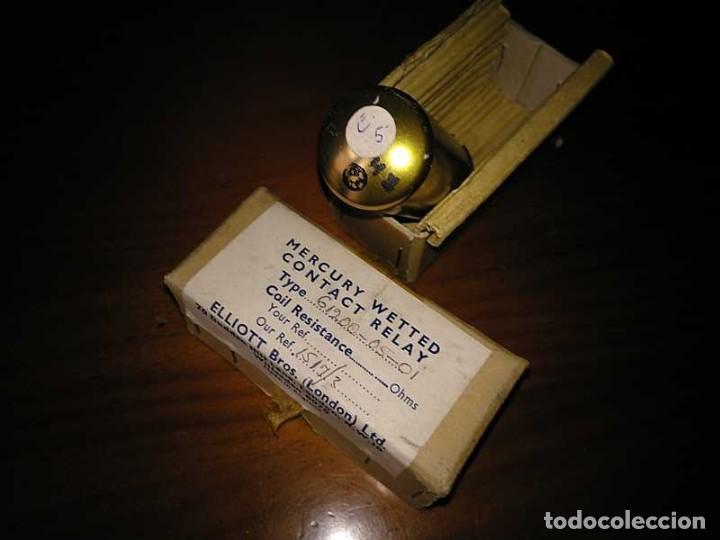 Antigüedades: RELE DE MERCURIO ELLIOT BROTHERS (LONDON) MADE IN ENGLAND EN SU CAJA MERCURY WETTED CONTACT RELAY - Foto 59 - 187444798