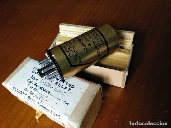 Antigüedades: RELE DE MERCURIO ELLIOT BROTHERS (LONDON) MADE IN ENGLAND EN SU CAJA MERCURY WETTED CONTACT RELAY - Foto 72 - 187444798