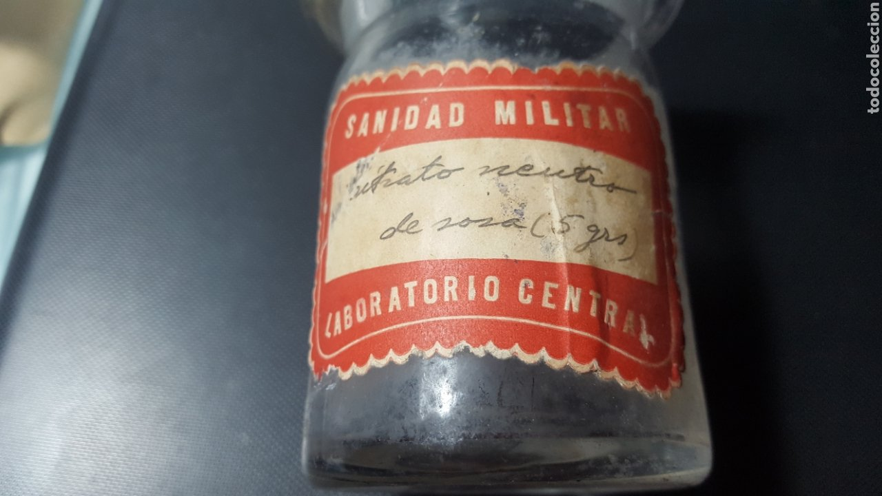 Antigüedades: SANIDAD MILITAR. LABORATORIO CENTRAL. VIDRIO SOPLADO. - Foto 2 - 187462196