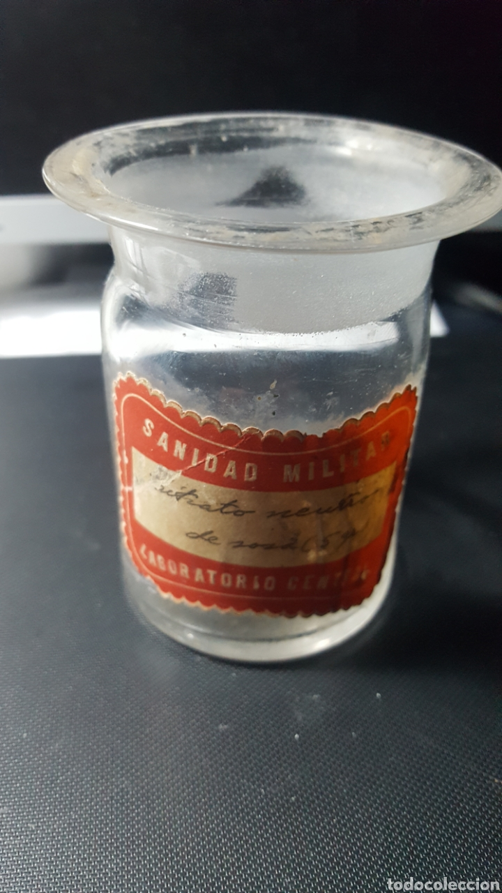 Antigüedades: SANIDAD MILITAR. LABORATORIO CENTRAL. VIDRIO SOPLADO. - Foto 3 - 187462196