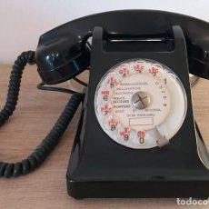 Teléfonos: TELEFONO DE BAQUELITA COLOR NEGRO AÑOS 60 FRANCÉS. Lote 187479257