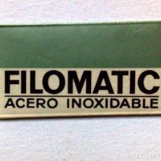 Antigüedades: HOJA DE AFEITAR ANTIGUA,FILOMATIC,ACERO INOXIDABLE,SIN USAR. Lote 187490331
