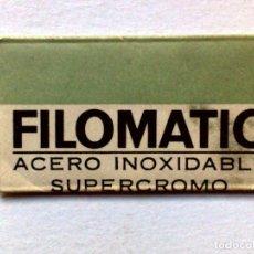 Antigüedades: HOJA DE AFEITAR ANTIGUA,FILOMATIC-SUPERCROMO,SIN USAR. Lote 187490430