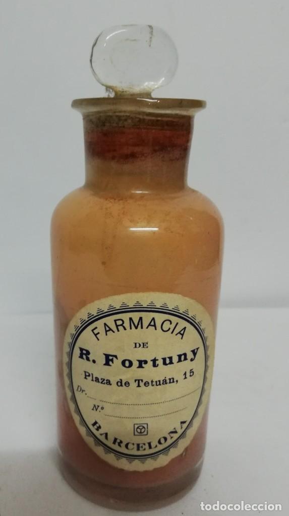 BOTE DE FARMACIA FORTUNY PRINCIPIOS S.XX. (Antigüedades - Técnicas - Varios)