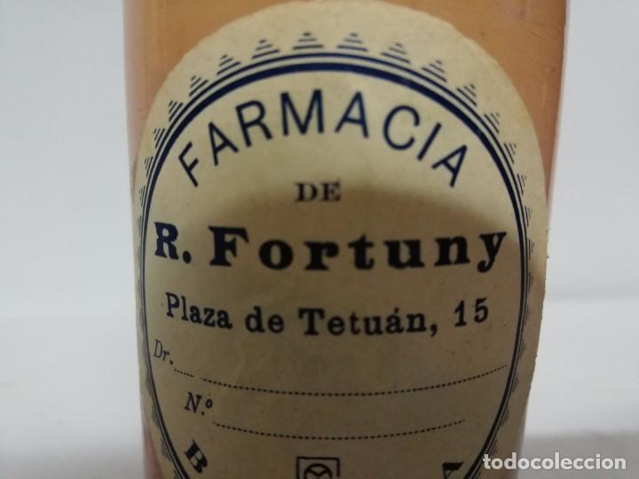 Antigüedades: Bote de Farmacia Fortuny principios S.XX. - Foto 5 - 187517673