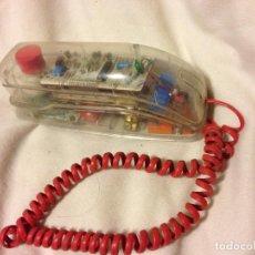 Teléfonos: TELEFONO TRANSPARENTE GÓNDOLA AÑOS 80 . Lote 187525455