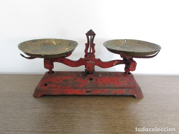 BALANZA, BASCULA SIMPLEX 3 KG SIN PESAS (Antigüedades - Técnicas - Medidas de Peso - Balanzas Antiguas)
