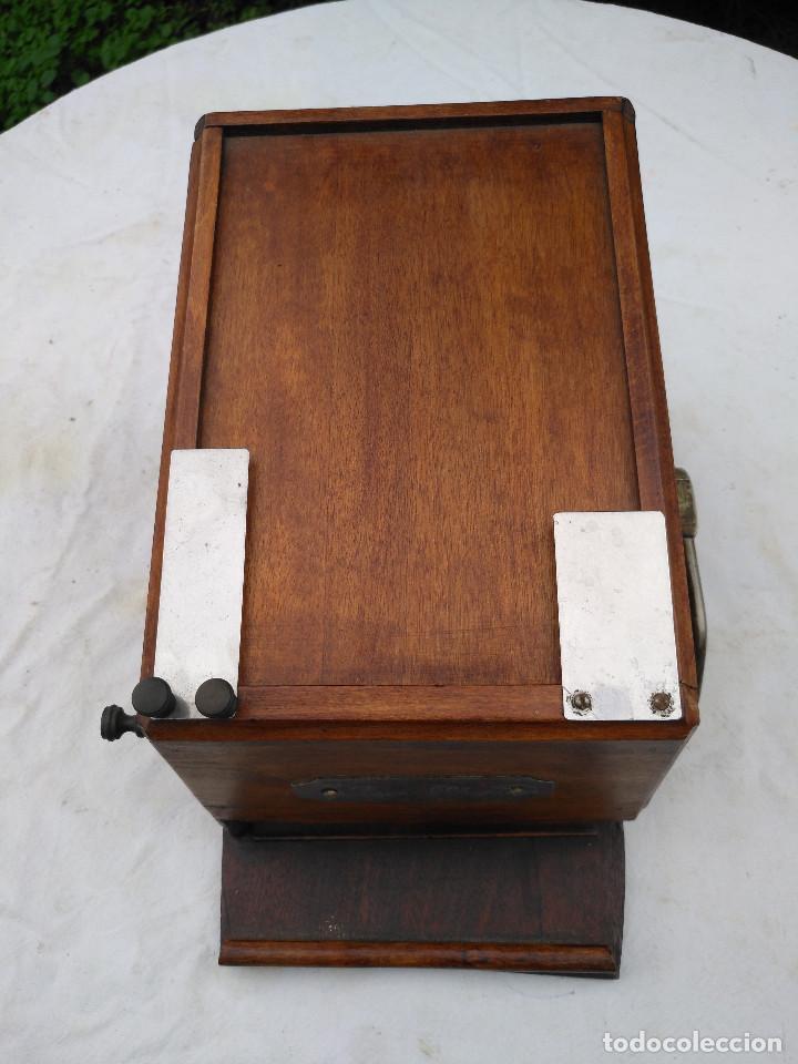 Antigüedades: Caja inglesa registradora. - Foto 8 - 188462932