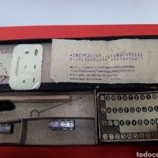 Oggetti Antichi: TECLADO Y 2 CILINDROS DE MIGNON. Lote 188468993
