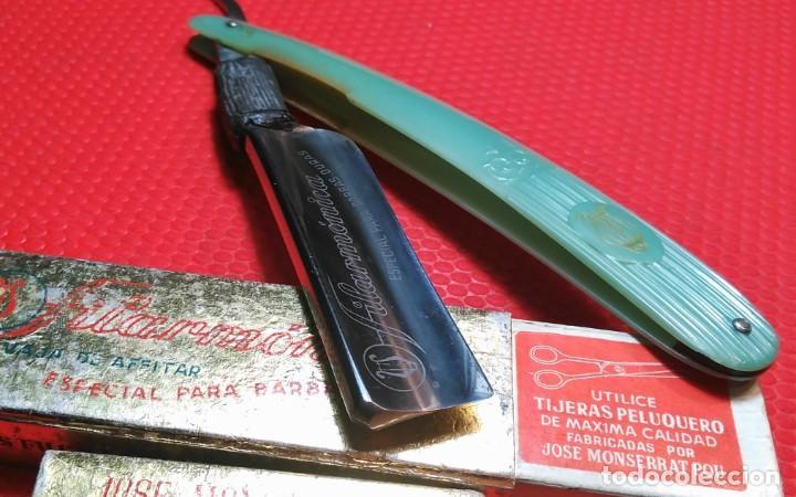 Antigüedades: ESPECIAL BARBAS DURAS FILARMONICA 14, navaja de Afeitar, Straight Razor, Rasoio - Foto 6 - 188551370
