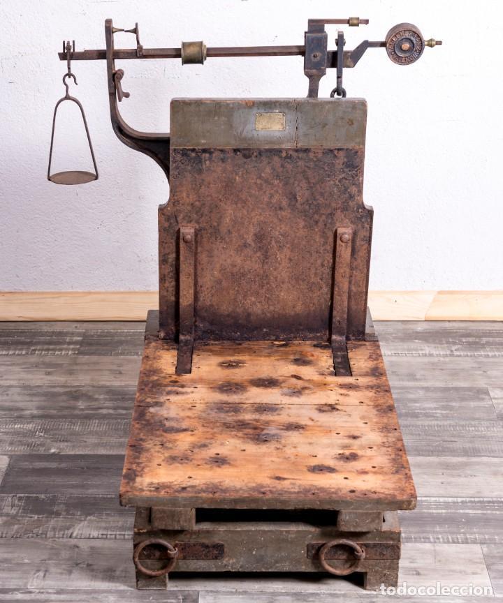 Antigüedades: Báscula Antigua Industrial - Foto 3 - 188716191