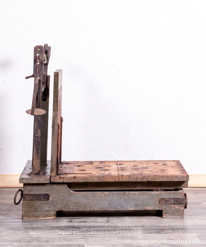 Antigüedades: Báscula Antigua Industrial - Foto 4 - 188716191