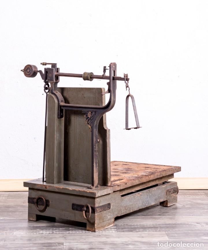 Antigüedades: Báscula Antigua Industrial - Foto 5 - 188716191