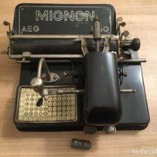 Antigüedades: MÁQUINA DE ESCRIBIR MIGNON, MODELO 4.--AEG. Lote 189124185