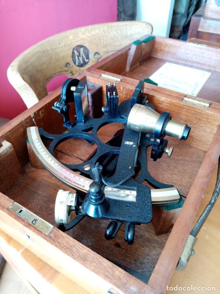 Antigüedades: Sextante antiguo made in gran bretaña - Foto 14 - 131666186