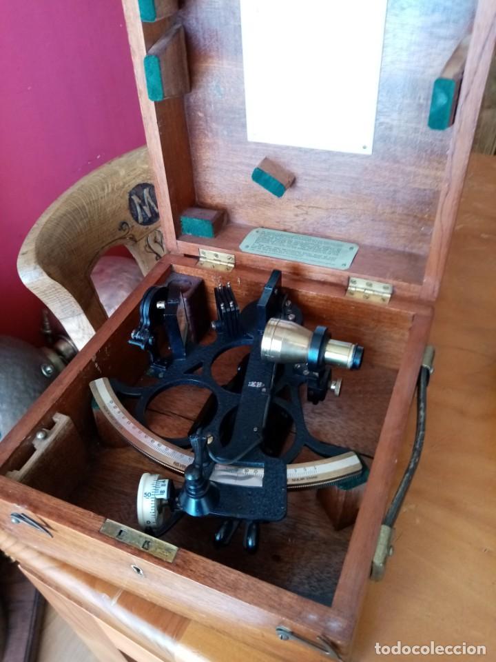 Antigüedades: Sextante antiguo made in gran bretaña - Foto 16 - 131666186