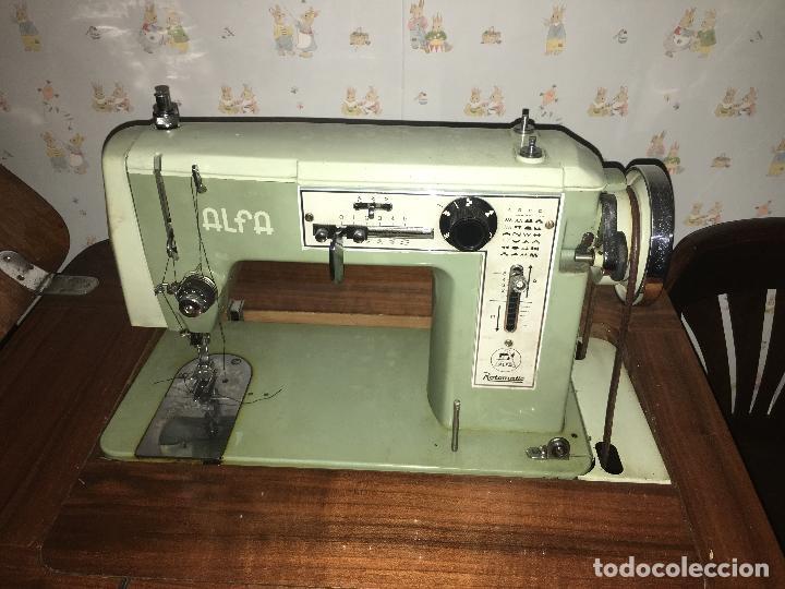 Antigüedades: maquina de coser ALFA de los años 60-70 - Foto 6 - 58599694