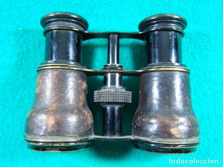 PRISMATICOS BINOCULARES IMPERTINENTES-SIN MARCA-FUNCIONA PERFECTO-11X9X4 CM.-PRINCIPIOS SIGLO XX. (Antigüedades - Técnicas - Instrumentos Ópticos - Binoculares Antiguos)