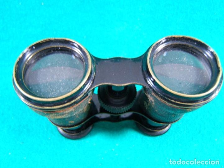 Antigüedades: PRISMATICOS BINOCULARES IMPERTINENTES-SIN MARCA-FUNCIONA PERFECTO-11x9x4 CM.-PRINCIPIOS SIGLO XX. - Foto 4 - 189276797