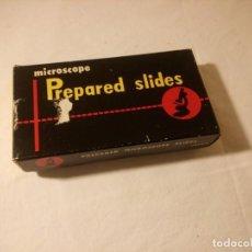 Antigüedades: CRISTALES PREPARADOS,MICROSCOPE PREPARED SLIDES JAPAN, TEXTILE FIBRE. Lote 189294787