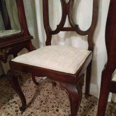 Antigüedades: LOTE DE SILLAS ANTIGUAS INGLESAS TALLADAS LA MADERA DE LUJO. ESTILO CHIPPENDALE CHIPENDAL. Lote 189378690