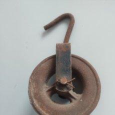 Antigüedades: ROLDANA, POLEA HIERRO. Lote 189392471